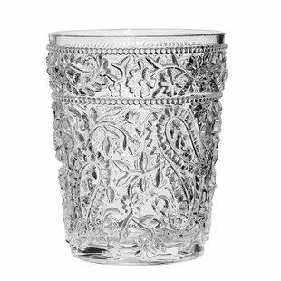Lola Paisley 14 oz. Acrylic Drinking Glass (Set of 4)
