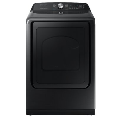 7.4 cu. ft. High Efficiency Gas Dryer with Steam Sanitize+ Samsung Color: Black Stainless Steel