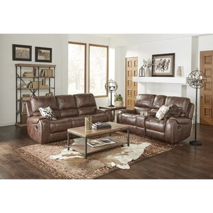 Stampley Leather Air Manual Reclining Living Room Set