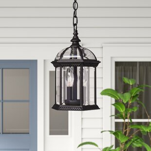 Hartshorne 3-Light Outdoor Hanging Lantern by Three Posts