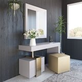 Lucus Vanity Set with Stool by Everly Quinn