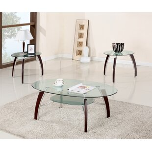 Lester 3 Piece Coffee Table Set by Ebern Designs Comparison