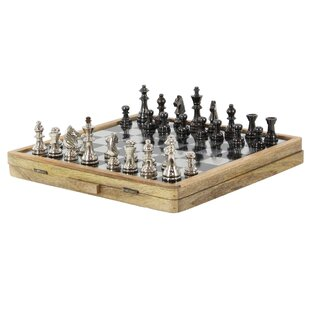 Aluminum Wood Chess Set