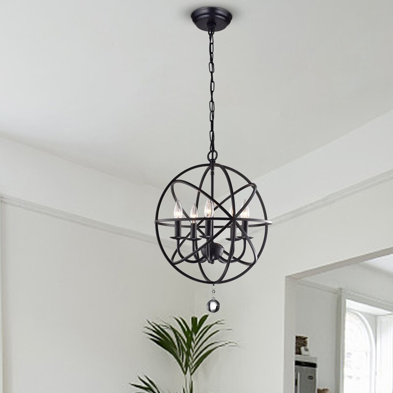 Darby home co albano 5 light foyer pendant reviews wayfair albano 5 light foyer pendant aloadofball Gallery