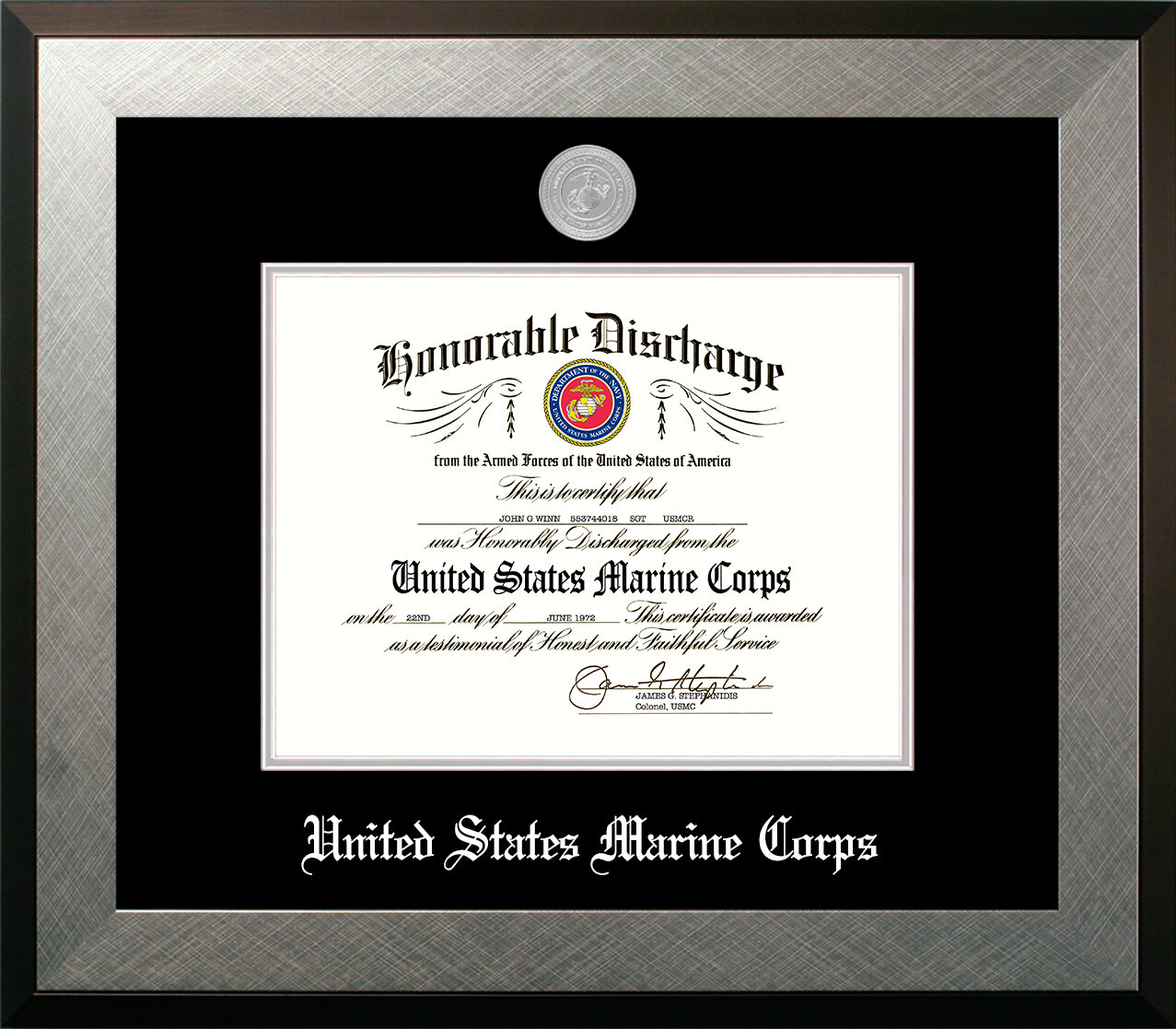 Patf Marine Discharge Honor Picture Frame Wayfair
