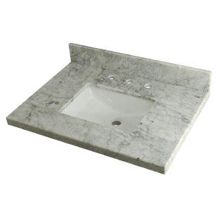 Carrara Marble 30 Single Bathroom Vanity Top By Kingston Brass