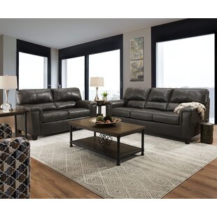 Coury Leather Configurable Living Room Set by Winston Porter