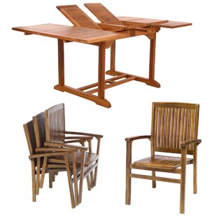 Teak 5 Piece Dining Set