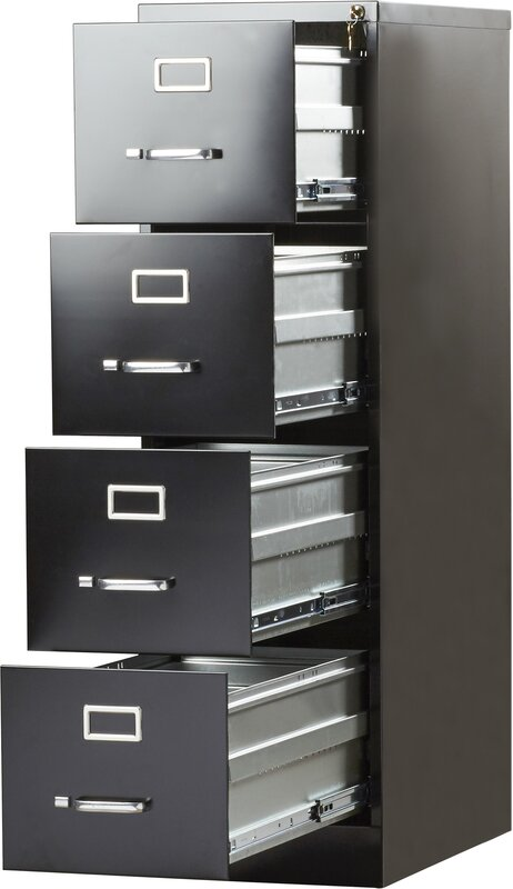 Beau Kane 4 Drawer Commercial Letter Size File Cabinet