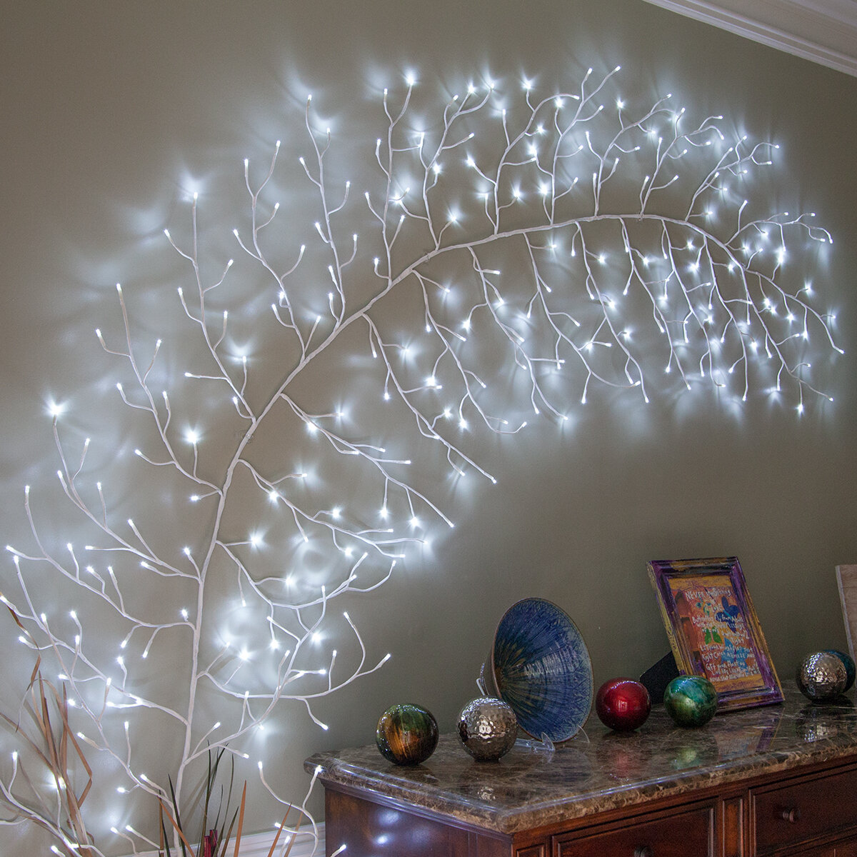 The Holiday Aisle Climbing Vine String Light Reviews Wayfair
