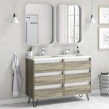 Northwest Hills 48 Wall-Mounted Single Bathroom Vanity Set by Corrigan Studio®