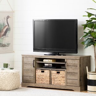 Fitcher TV Stand with Baskets for TVs up to 65