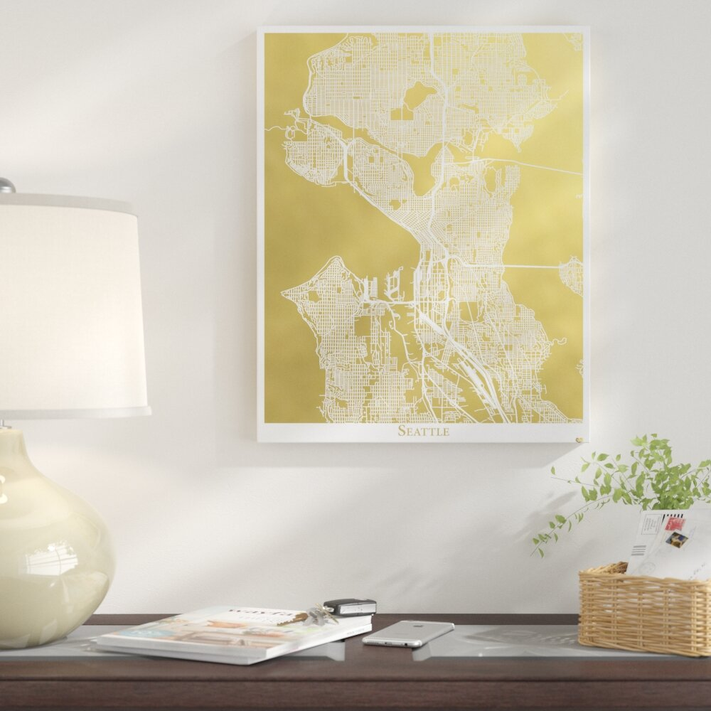 East Urban Home \'Seattle\' Graphic Art Print | Wayfair