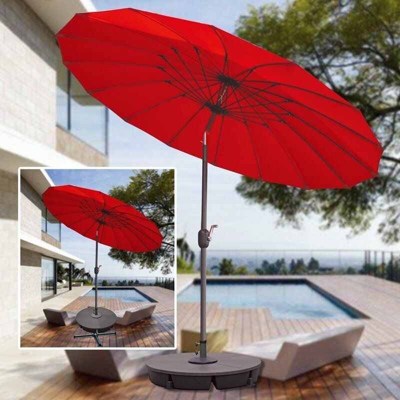 Captivant Brayden Studio Selma Deck Parasol Weight Plastic Free Standing Base Umbrella  Stand U0026 Reviews   Wayfair