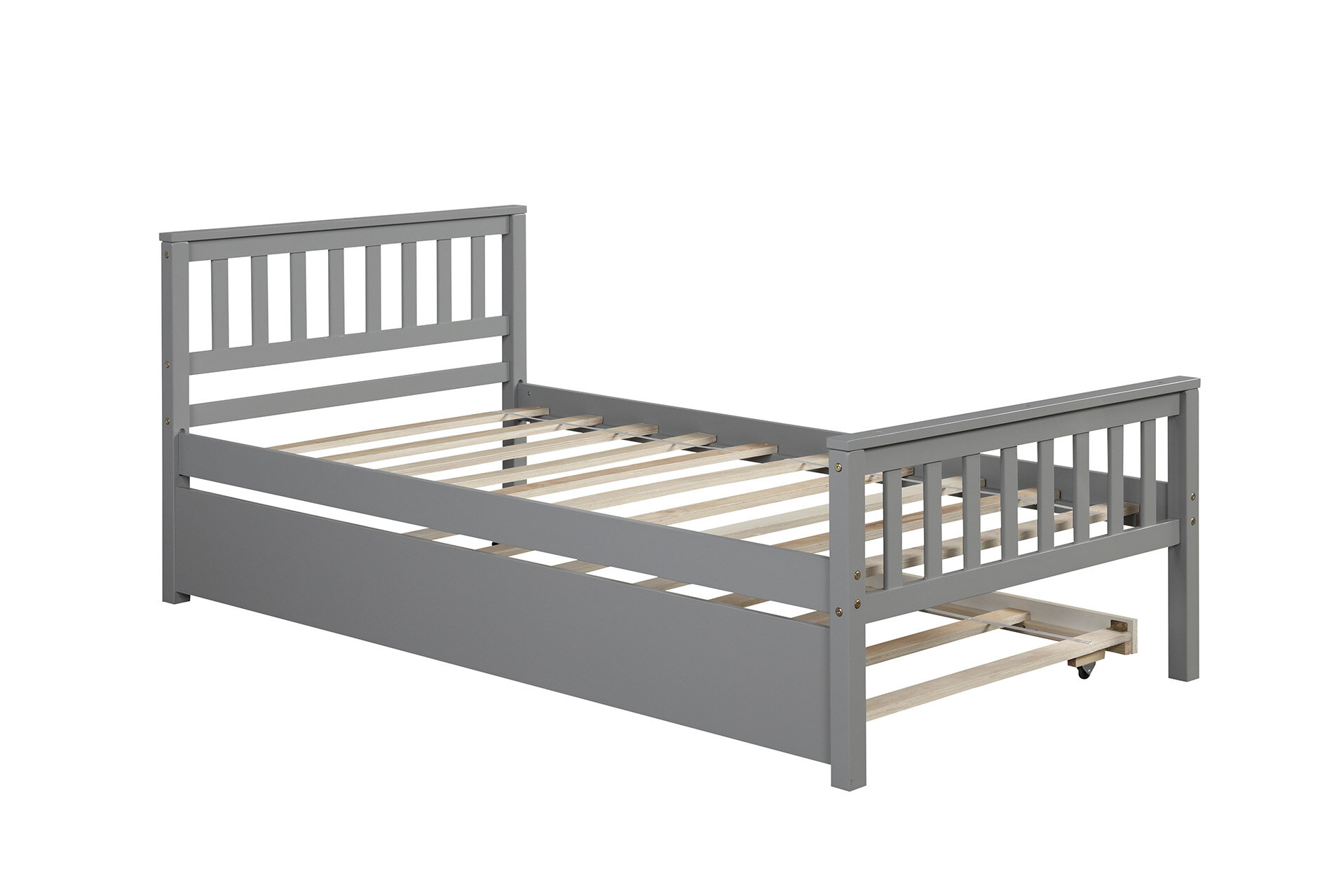 Red Barrel Studio Aunica Solid Wood Twin Platform Bed