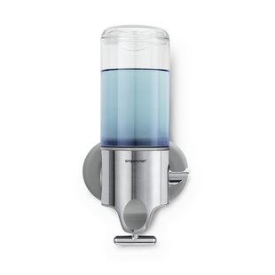 Find the perfect Single Wall Mount Soap Pump, 15 fl. oz., Stainless Steel By simplehuman