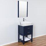 Bugbee 24 Single Bathroom Vanity Set with Mirror by Breakwater Bay