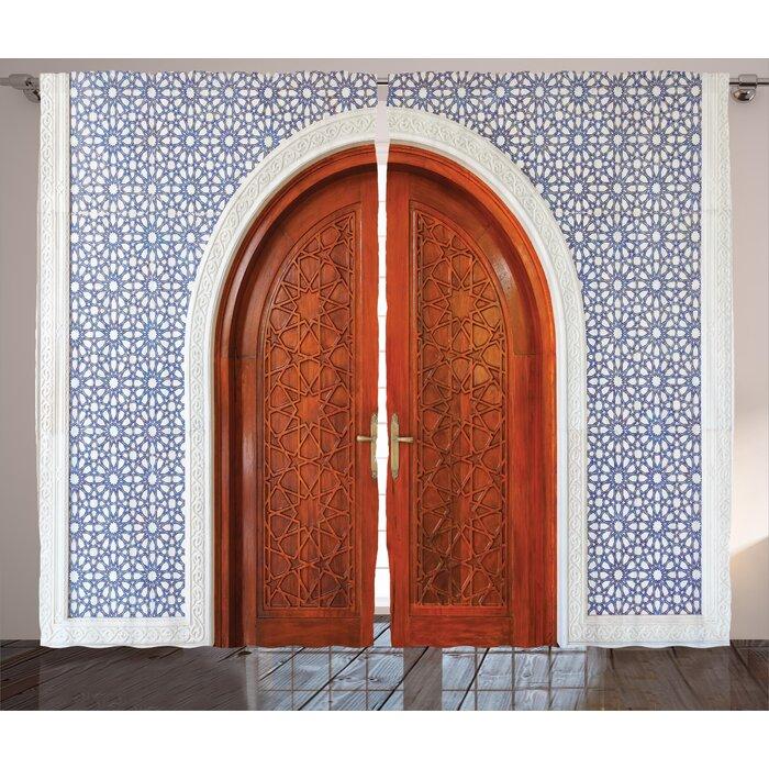 Williston Moroccan Antique Wooden Door of Asian Architecture with Star Form Oriental Belief Picture Graphic Print  sc 1 st  Wayfair & Red Barrel Studio Williston Moroccan Antique Wooden Door of Asian ...