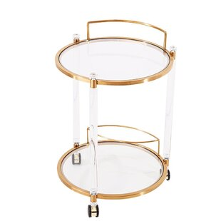 Everly Quinn Rosenthal Round Bar Cart