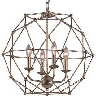 Mercury Row Cavanagh 4-Light Geometric Chandelier