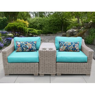 Coast 3 Piece Conversation Set With Cushions by TK Classics Sale