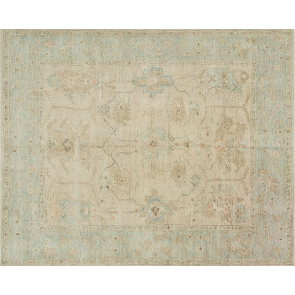 House Of Hampton Abelard Hand Knotted Wool Stone Area Rug Reviews Wayfair