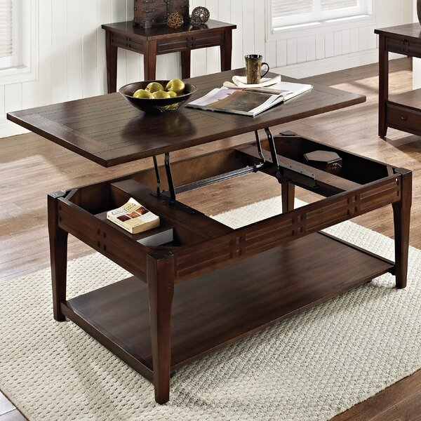 World Menagerie Riverside Coffee Table With Lift Top Reviews