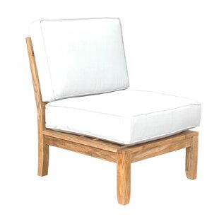 Dustin Teak Patio Chair with Sunbrella Cushions