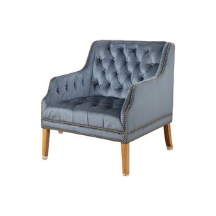 Odell Manor Tufted Velvet Arm Chair