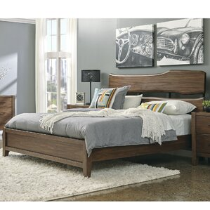Russet Upholstered Panel Bed by Union Rustic
