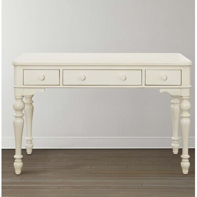 Blithedale Writing Desk with 3 Drawers in Antique White - Rosecliff Heights Blithedale Writing Desk With 3 Drawers In