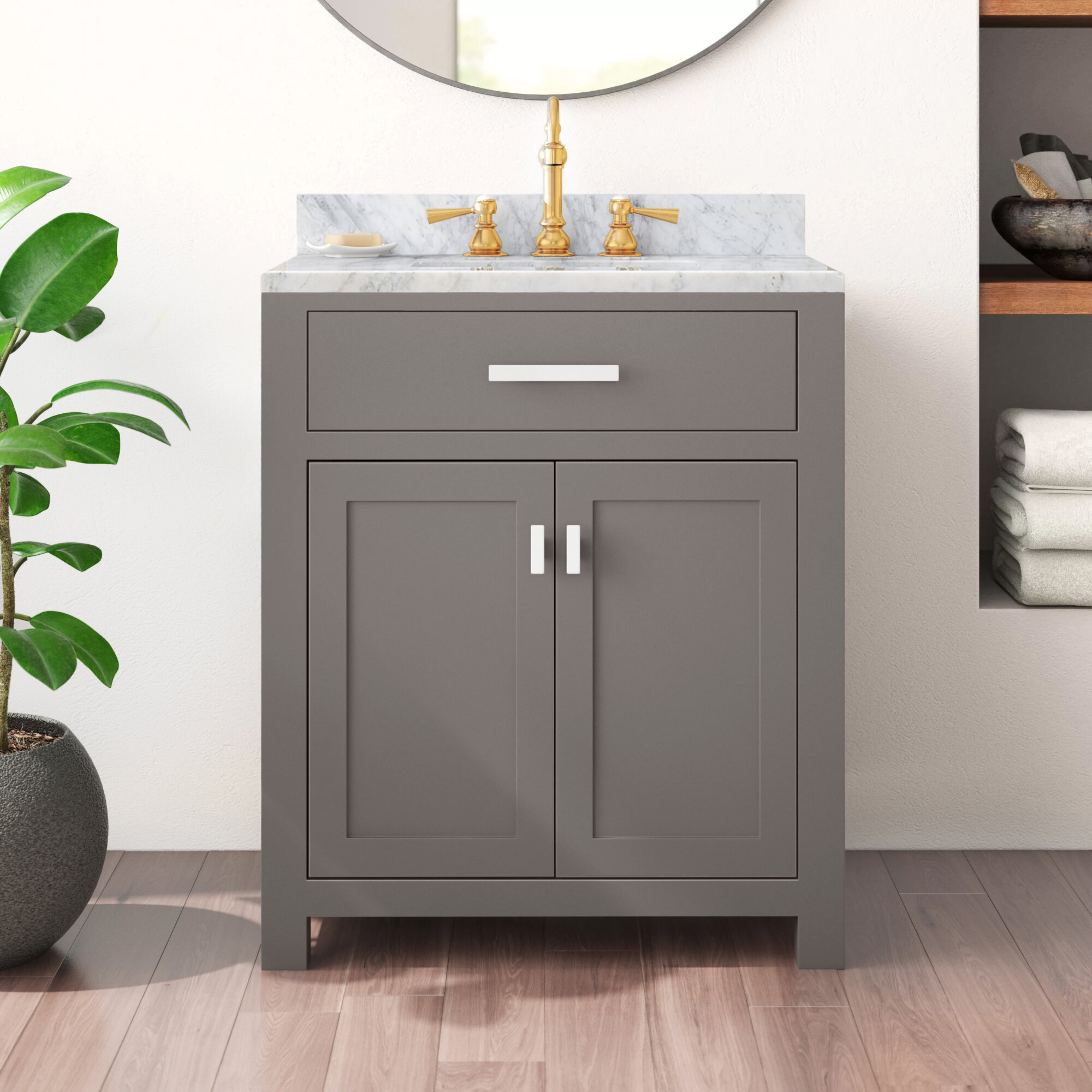 30 Inch Gray Bathroom Vanities Free Shipping Over 35 Wayfair