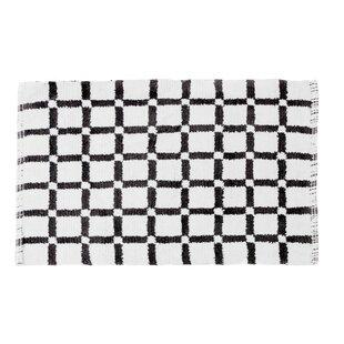 Read Reviews Grid Reversible Cotton Bath Mat ByLinen Tablecloth