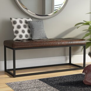 Mercury Row Lembus Faux Leather Bench
