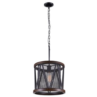 CWI Lighting Parsh 1-Light Drum Pendant