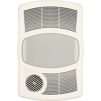 100 CFM Exhaust Bathroom Fan with Heater Broan Bulb Type Flourescent