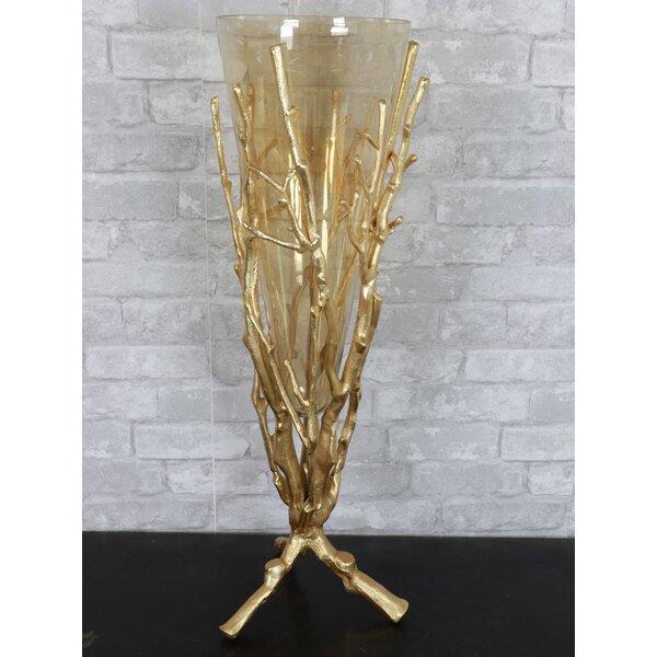 Bayou Breeze Aquilino Golden Coral Floor Vase Reviews Wayfair