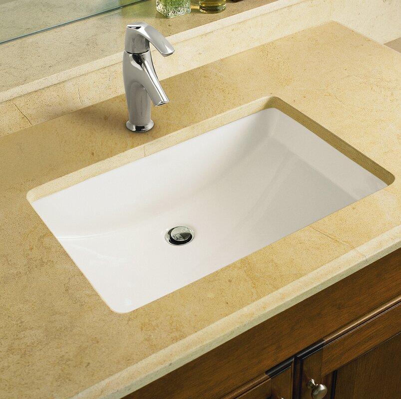 K 2215 0 33 47 Kohler Ladena Ceramic Rectangular Undermount Bathroom Sink With Overflow