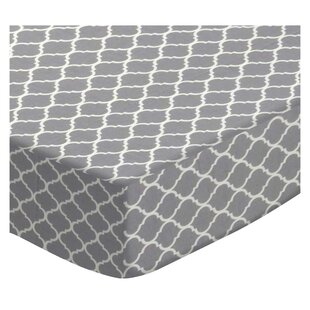 Compare prices Gray Quatrefoil Pack and Play Crib Sheet BySheetworld