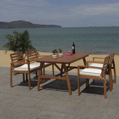 Upper Swainswick 5 Piece Dining Set With Cushions by Highland Dunes Purchase