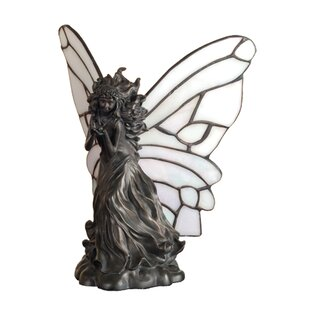 Fairy Holding Ladybug Accent Table Lamp