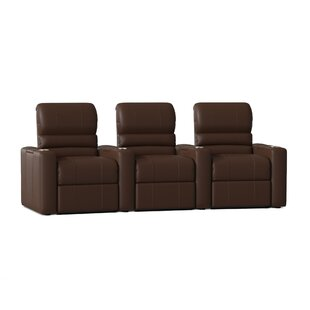 Blue LED Home Theater Row Seating Row of 3