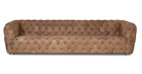 Ordinaire Extra Long Leather Sofa | Wayfair