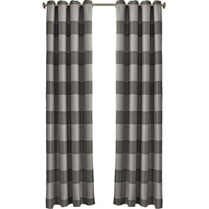 Gaultier Striped Max Blackout Grommet Single Curtain Panel
