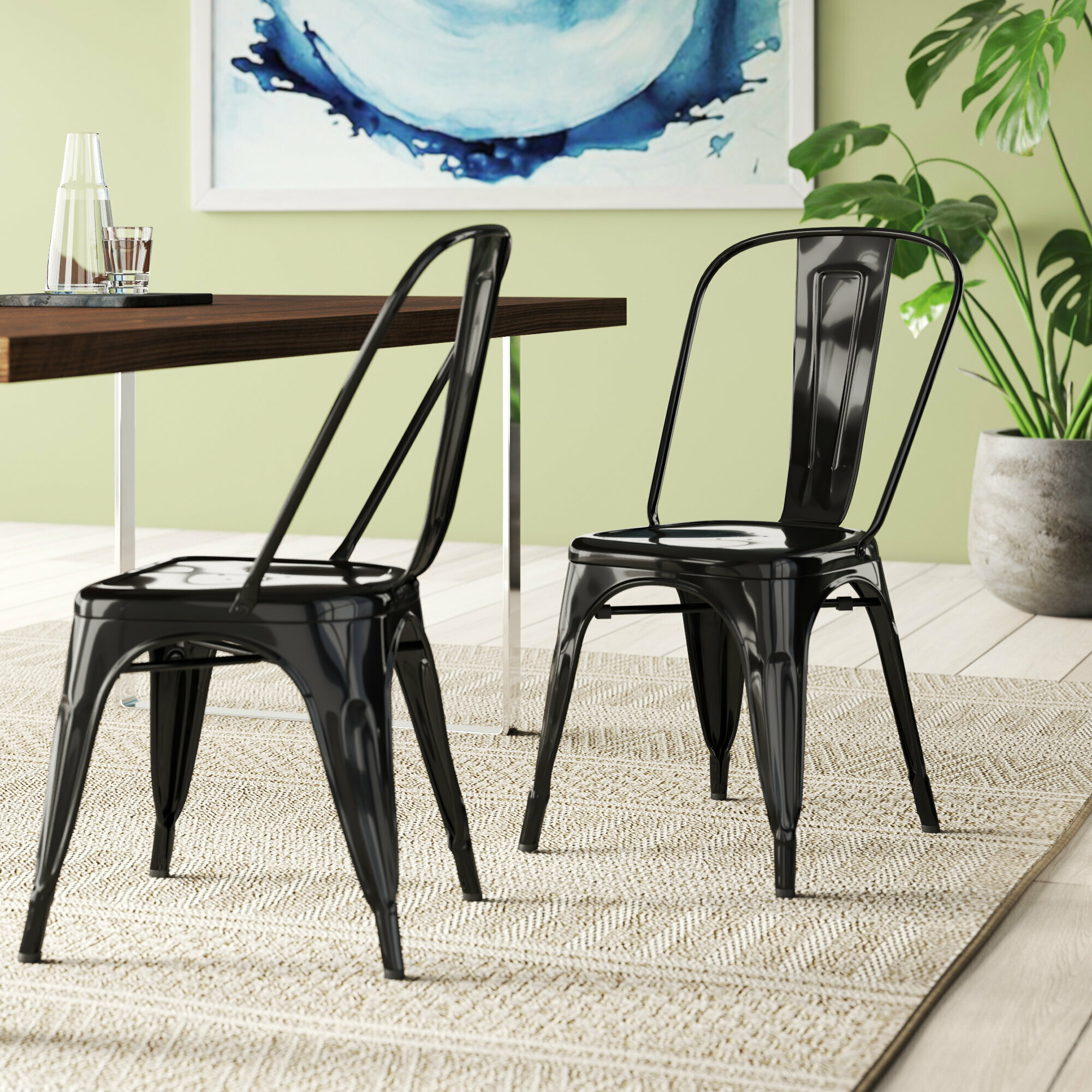 Picture of: Black Metal Kitchen Dining Chairs You Ll Love In 2020 Wayfair