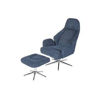 Barneys Swivel Lounge Chair and Ottoman by Orren Ellis