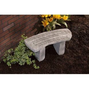 I Thought of You with Love Stone Garden Bench