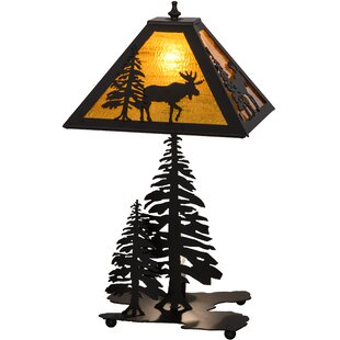 Lone Moose Lighted Base 21 Table Lamp