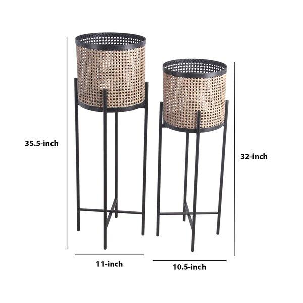 Orsi 2 Piece Metal Pot Planter Set Joss Main