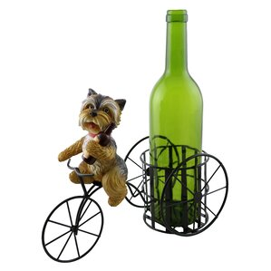 Tiffaney Cute Shih Tzu Dog 1 Bottle Tabletop Wine Rack by Red Barrel Studio